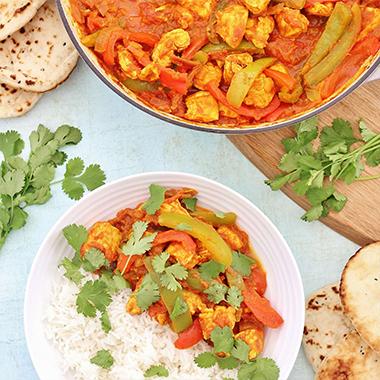 طرز تهیه خوراک مرغ هندی (چیکن جالفریزی)