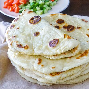 طرز تهیه نان خانگی بدون فر (نان ماست)