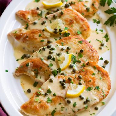 طرز تهیه چیکن پیکاتا: خوراک مرغ ایتالیایی
