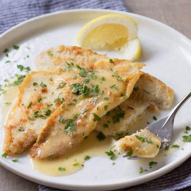 طرز تهیه ماهی حلوا با سس کبر