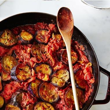 بادمجان کبابی و کاری گوجه فرنگی