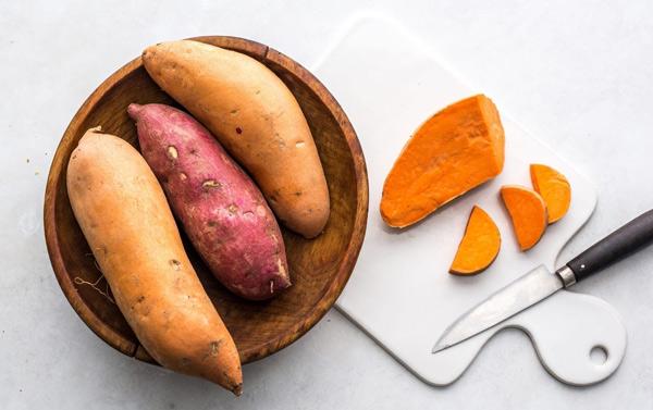 غذای کم چرب و رژیمی سیبزمینی شیرین