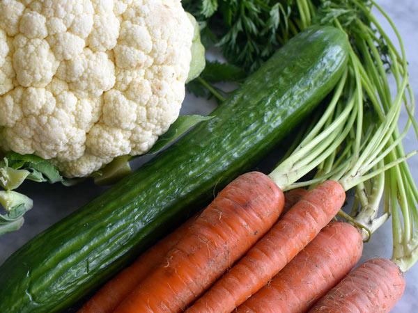 سبزیجات مورد نظر را انتخاب کنید