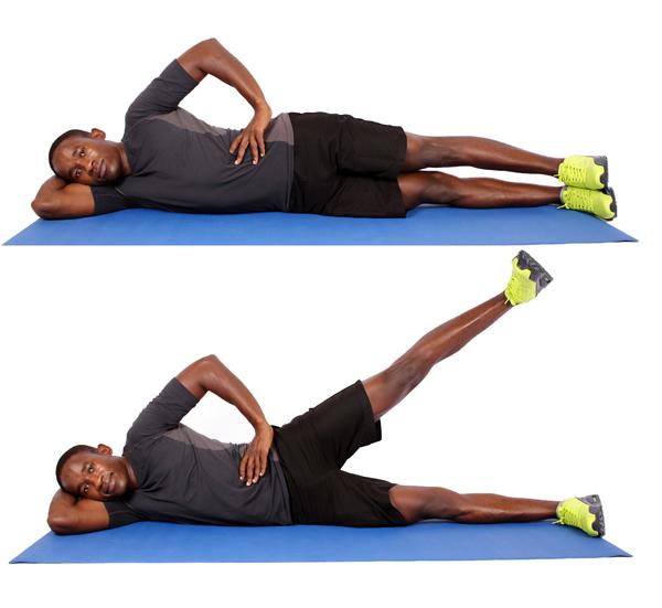 تقویت زانو با بلند کردن پا از پهلو