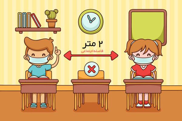اصول فاصلهگذاری اجتماعی  در مدرسه