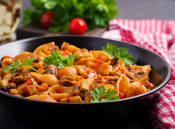 طرز تهیه پاستای سبزیجات