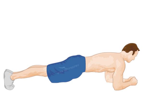 حرکت پلانک برای لاغری شکم