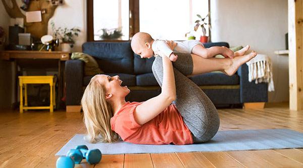 آغاز ورزش بعد از زایمان طبیعی و سزارین