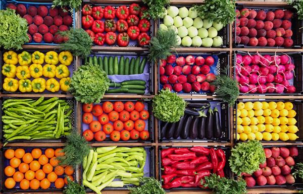 اهمیت میوه و سبزیجات در رژیم غذایی دش