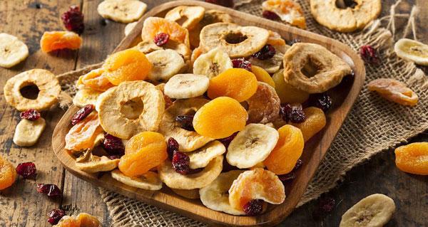 میوههای خشک غذاهای فراوردی شده سالم