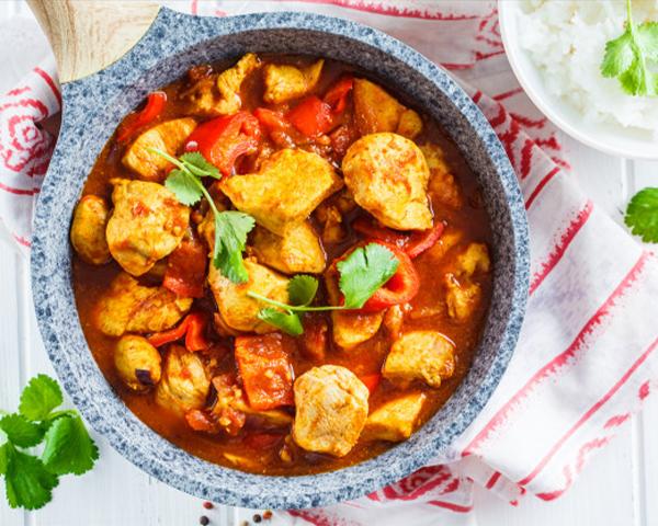 طرز تهیه خوراک مرغ هندی با سس مخصوص