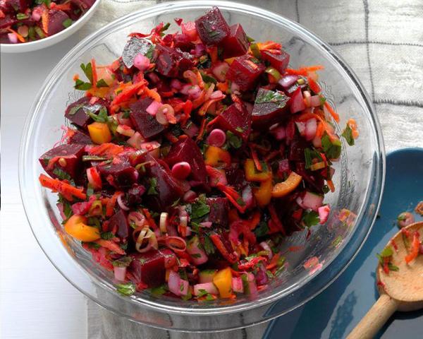 طرز تهیه سالاد لبو و سبزیجات خوشمزه