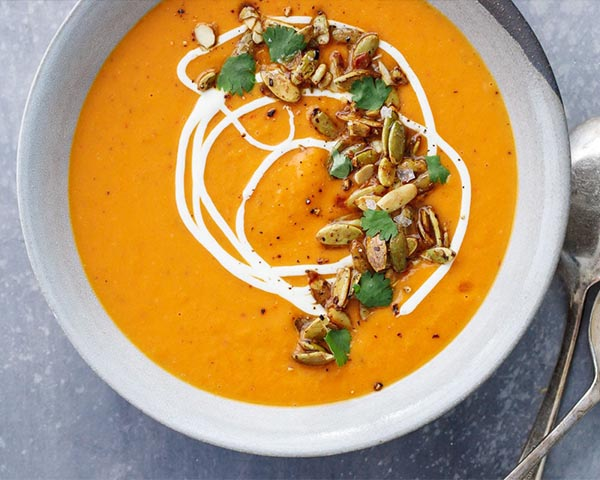 طرز تهیه سوپ کدوحلوایی