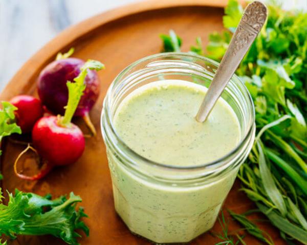 طرز تهیه سس سبزیجات برای سالاد
