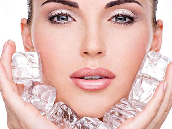 یخ گلاب برای پوست