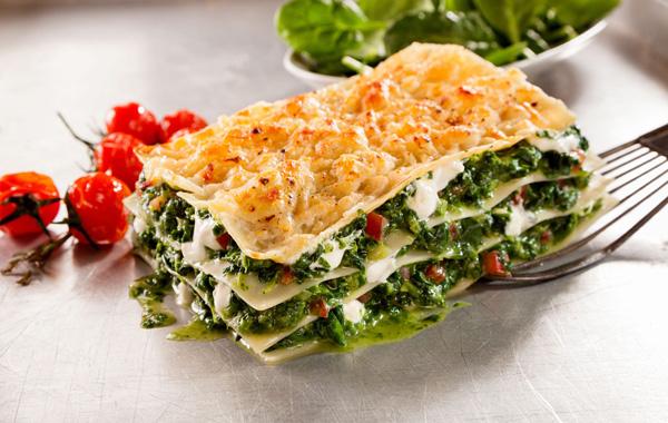 لازانیای اسفناج از لذیذترین غذاهای بدون گوشت