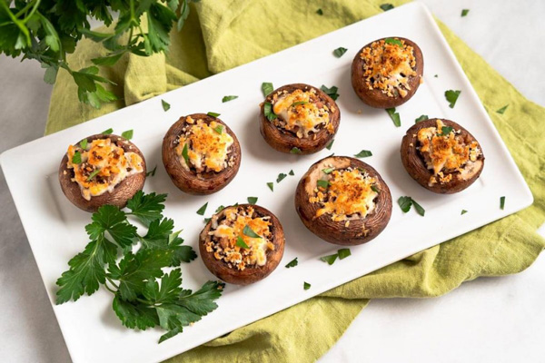 قارچ شکم پر بدون گوشتیکی از خوشمزهترین غذاهای بدون گوشت