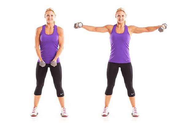 از بین بردن پوست شل بازو با حرکت دمبل مورب
