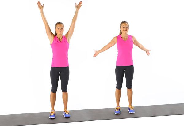 حرکات ورزشی برای لاغری بازو، چرخش بازوها