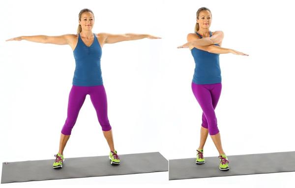 حرکات ورزشی برای لاغری بازو، حرکت قیچی